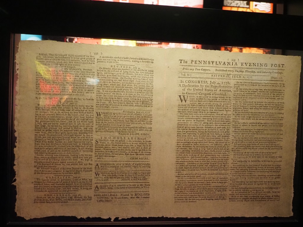 1st Publishing of the Declaration of Independence newspaper