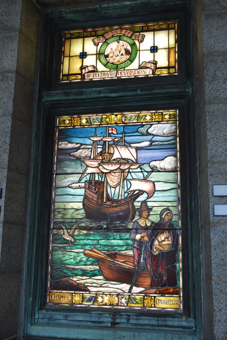Pilgrim Hall Mayflower stained glass
