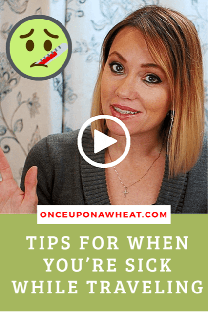 Sick While Traveling Tips pin OUAW