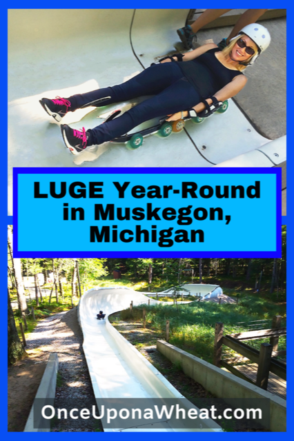 Luge in Muskegon Michigan Pin
