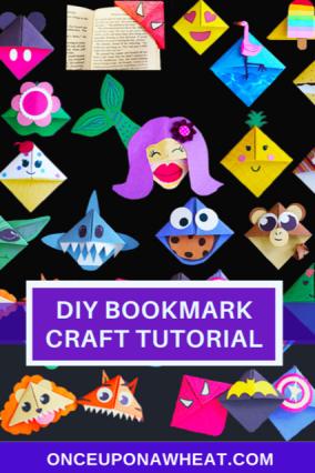 DIY bookmark crafts pin
