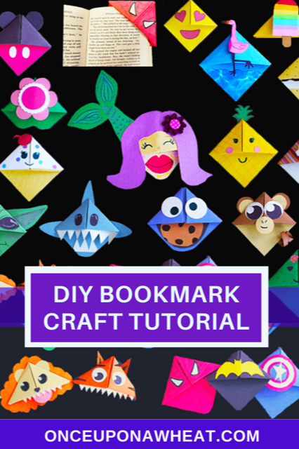 DIY bookmark crafts pin