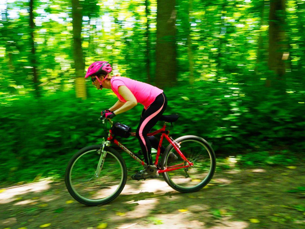 mountain biking attack position