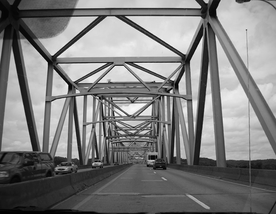 Silver Memorial Bridge Point Pleasant West Virginia Ohio