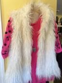 chiffon & faux fur