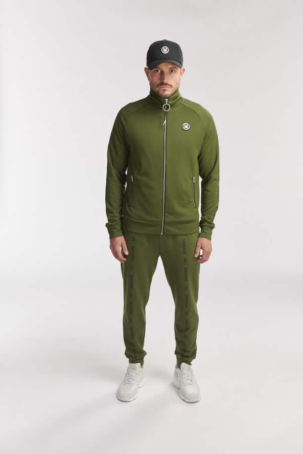AKA TRACK JACKET ARMY GREEN O3W ONCE WE WERE WARRIORS