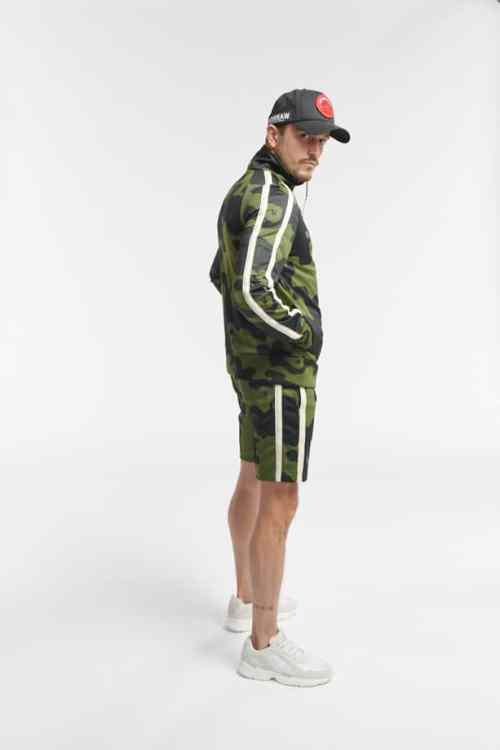 HIPO TRACK SHORTS CAMO ARMY GREEN O3W ONCE WE WERE WARRIORS