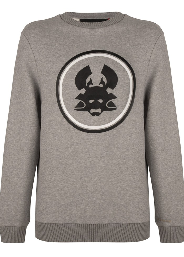 TOBI 2 CREWNECK GREY MELANGE ONCE WE WERE WARRIORS