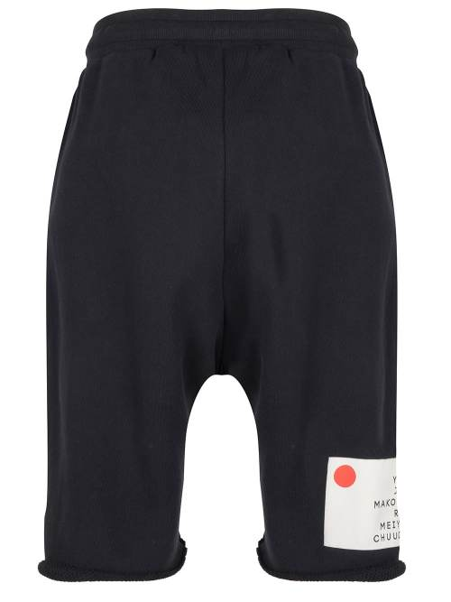 KOTO 2 DROPPED SWEAT SHORTS BLACK ONCE WE WERE WARRIORS