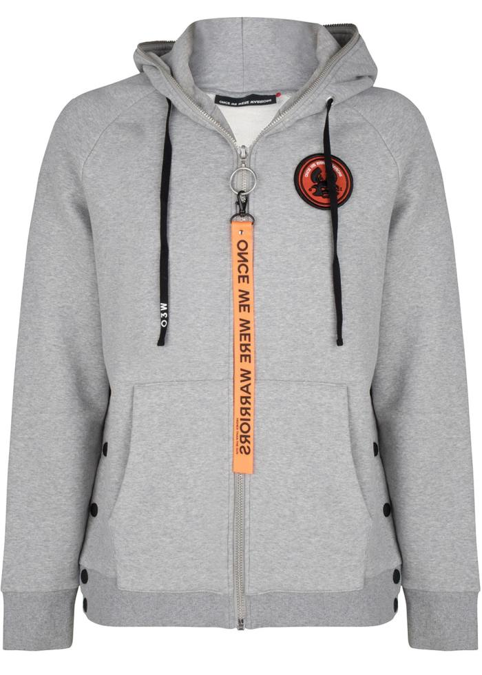 tokyo 2 hoodie grey melange once we were warriors