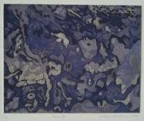 """""""Burn II."""" Etching, 2013."""