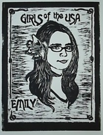 """""""Girls of the USA: Emily."""" Relief, 2008."""
