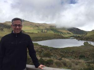 El Volcán Nevado de Ruiz cerca a Manizales