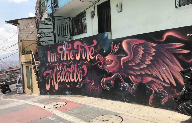 A mural in La Comuna 13