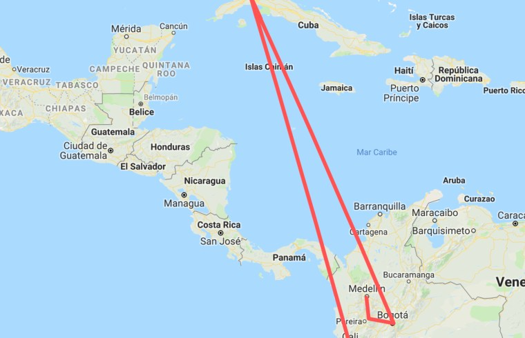 Colombian nomad itinerary