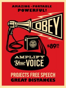 Obey Megaphone Poster
