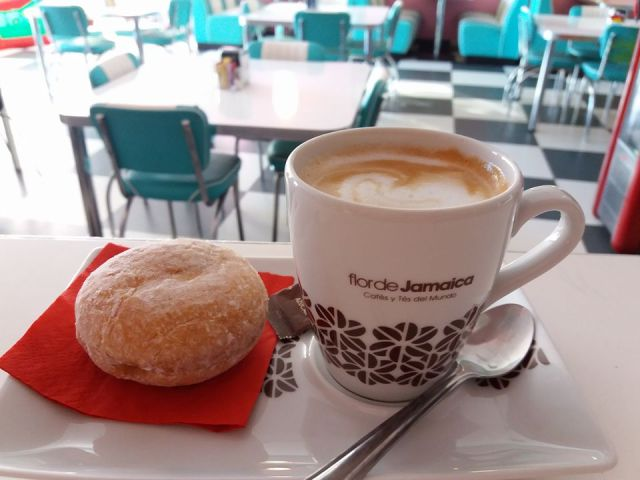 Coffee and donut at Big G's