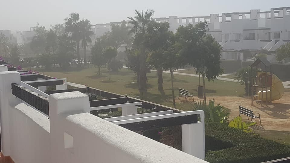 Resort Is Hit By Strong Winds and Tumbleweed