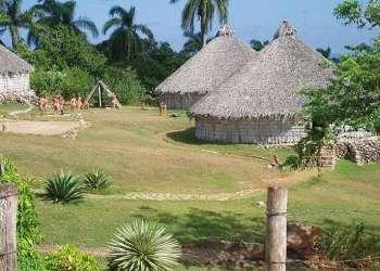 Reconstrucción de una Villa Taína en Cuba