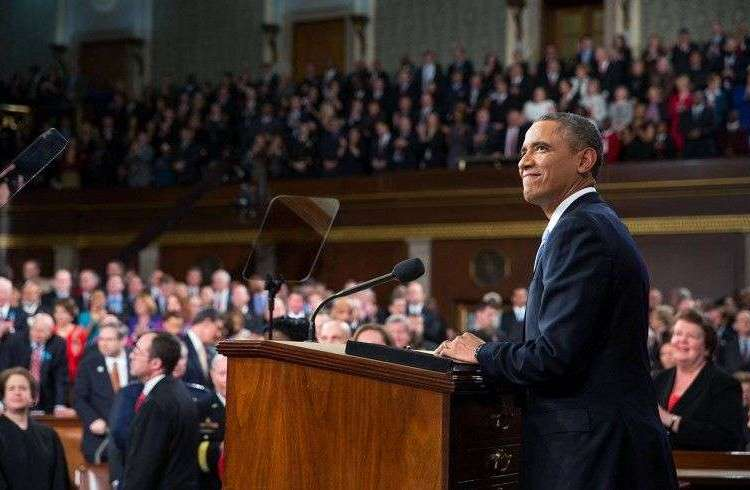 """Congress should begin the work of ending the embargo,"" said President Obama in his SOTU speech in January 2015.."