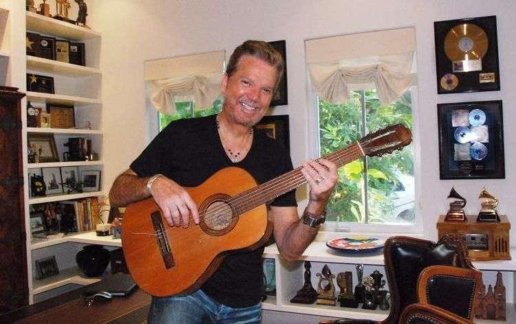 Willy Chirino in his office. Photo: Sarabanda Productions