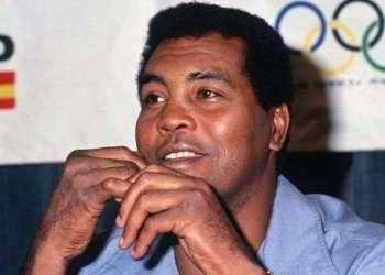 Cuban boxer Teófilo Stevenson, three-time Olympic champion.