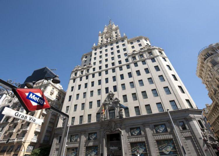 Telefónica building, in Madrid. Photo: cheapinmadrid.es.