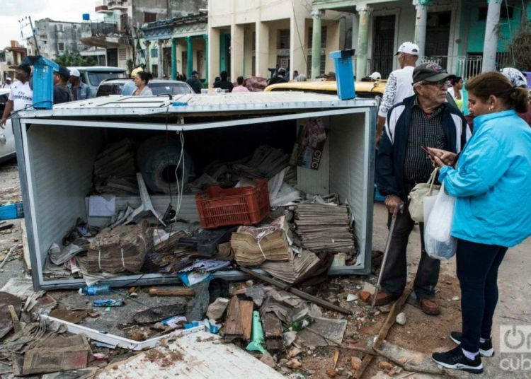 Damages caused by the January 27 tornado in Havana. Photo: Otmaro Rodríguez.