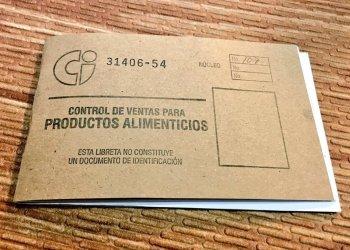 Cuba's ration book. Photo: @SashaEats / Twitter.