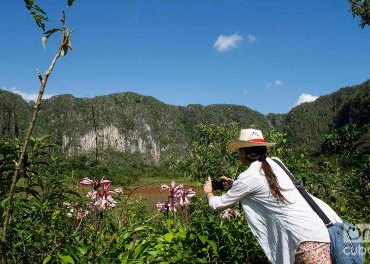 Tourist in Viñales Valley. Photo: Otmaro Rodríguez.