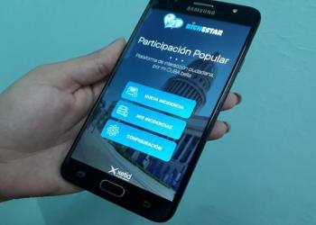 "Cuban ""People's Participation"" app for android mobiles, which aims to facilitate ""citizen complaints"" and the link with ""government authorities."" Photo: Granma."