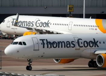Aircraft of the British company Thomas Cook, which declared itself in bankruptcy on September 23, 2019 leaving thousands of tourists stranded worldwide. Photo: manchestereveningnews.co.uk / Archive.
