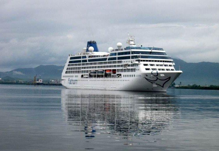 Carnival's Adonia cruise ship entering the port of Santiago de Cuba. Photo: Prensa Latina / Archive.
