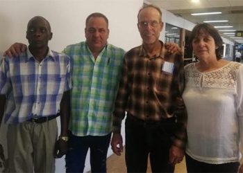 The four Cuban collaborators arrested on Wednesday, already released. Photo: Cubadebate