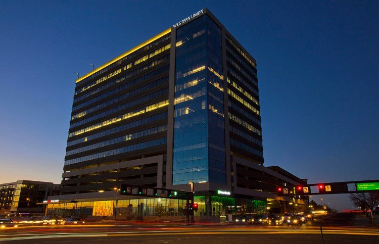 Headquarters of the Western Union company in Denver, Colorado. Photo: Business Wire.