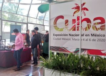 Cuba's commercial exhibition in Mexico, inaugurated at the island's diplomatic headquarters in the Mexican capital, on March 4, 2020. Photo: @NexosTuristicos / Twitter.