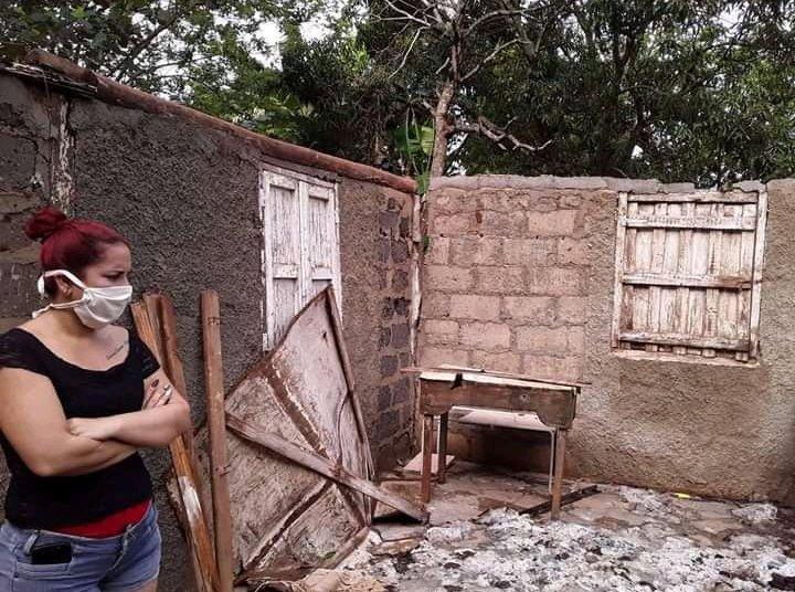 Damage caused by a severe local storm in Ciego de Ávila, in central Cuba. Photo: Invasor/Facebook.
