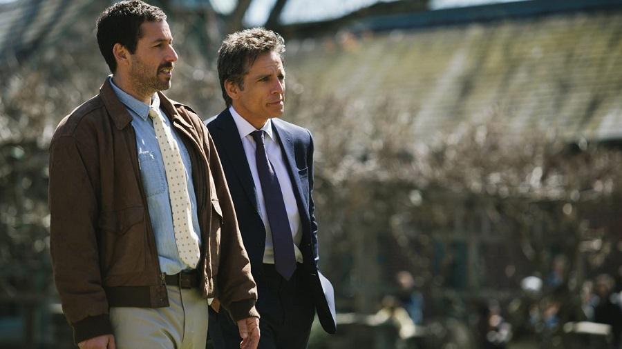 """Adam Sandler y Ben Stiller en """"The Meyerowitz Stories"""". Foto: Daily Beast."""