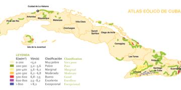 Atlas eólico de Cuba