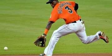 Adeiny Hechavarría fue el mejor cubano de la semana / Foto: Steve Mitchell-USA TODAY Sports