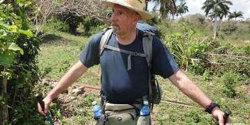 Guillermo Grenier en el camino del cimarrón. Foto: Carlos Alejandro Rodríguez