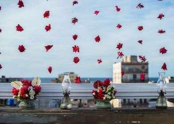 Detalle de la decoración de la boda de Usher. Foto: Aires de fiesta.