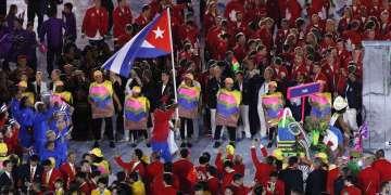 Entrada delegacion de Cuba durante la ceremonia de apertura de los Juegos Olímpicos de Río de Janeiro, en el estadio olímpico Maracaná, Brasil, el 5 de agosto de 2016. Foto: Roberto Morejón / JIT.