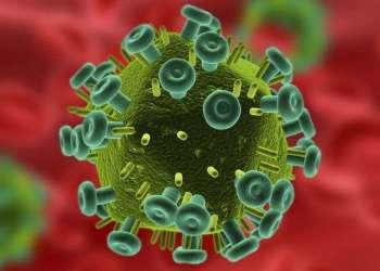 Virus del VIH-SIDA. Imagen de archivo.