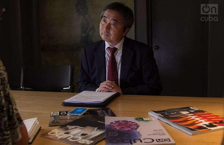 Mr. Masaru Watanabe in OnCuba. Photo: Regino Sosa.