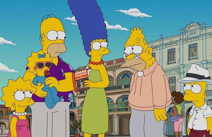 Los Simpson en Cuba. Foto: Fox.