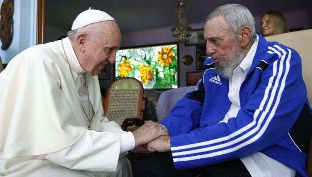 Meeting of Pope Francis and Fidel Castro in September 2015. Photo: EFE.