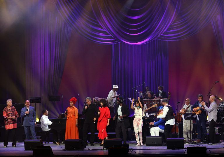 Cuban and international artists in the concert for International Jazz Day on April 30, 2017. Alicia Alonso Grand Theater of Havana. Photo: EFE.