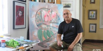 Eduardo Guerra, pintor y grabador. Foto: Ismario Rodríguez Pérez.
