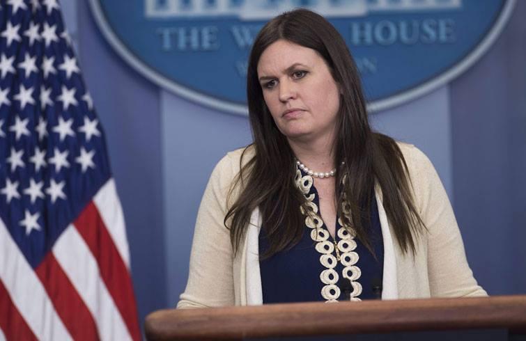 Sarah Sanders, vocera de la Casa Blanca. Foto: Getty Images.